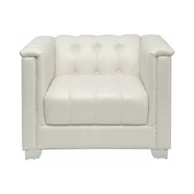 Chaviano Tufted Upholstered Chair Pearl White