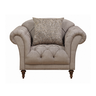 Alasdair Tufted Upholstered Chair Brown