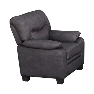 Meagan Pillow Top Arms Upholstered Chair Charcoal