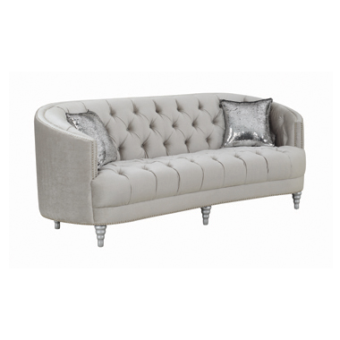 Avonlea Sloped Arm Tufted Sofa Grey