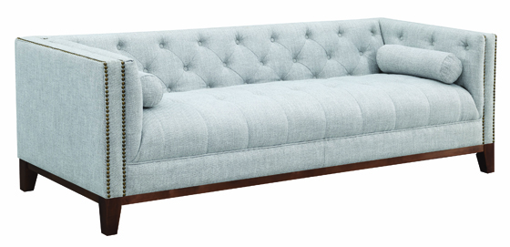 Celle Tuxedo Arm Tufted Sofa Light Grey