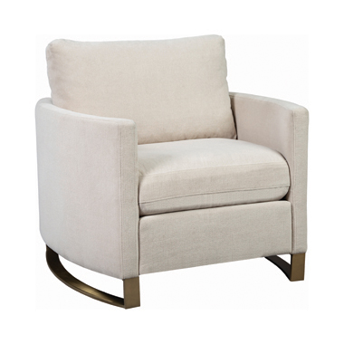 Corliss Upholstered Arched Arms Chair Beige
