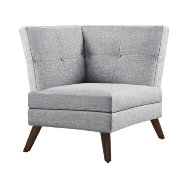 Churchill Button Tufted Corner Sofa Grey