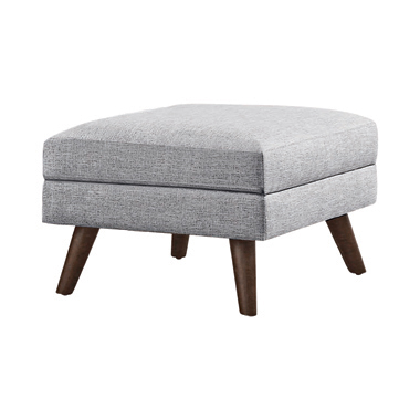 Churchill Ottoman with Tapered Legs Grey