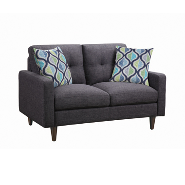 Watsonville Tufted Back Loveseat Grey