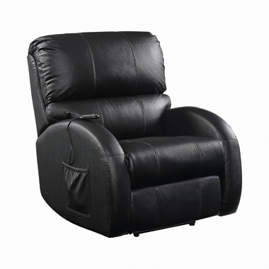 Upholstered Power Lift Recliner Black
