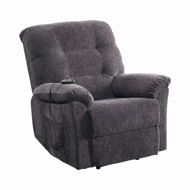Upholstered Power Lift Recliner Grey