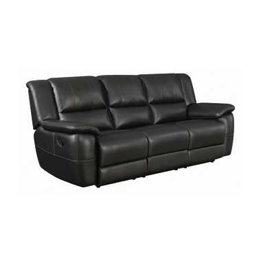 Lee Pillow Arm Motion Sofa Black