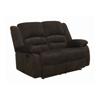 Gordon Pillow Top Arm Motion Loveseat Chocolate