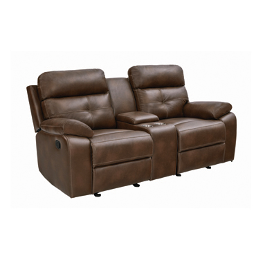 Damiano Button Tufted Glider Loveseat Tri-tone Brown