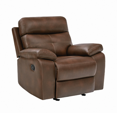 Damiano Upholstered Glider Recliner Tri-tone Brown