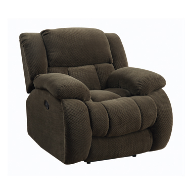 Weissman Upholstered Glider Recliner Chocolate