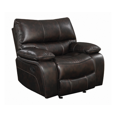 Willemse Upholstered Glider Recliner Dark Brown