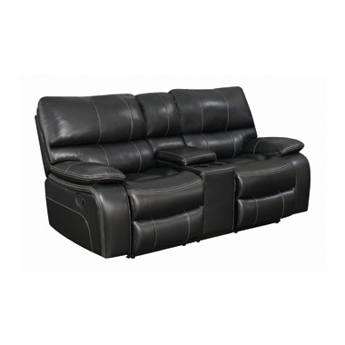 Willemse Motion Loveseat with Console Black