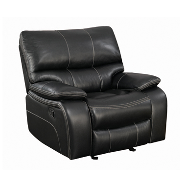 Willemse Upholstered Glider Recliner Black