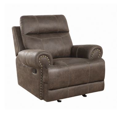 Brixton Upholstered Glider Recliner Buckskin Brown