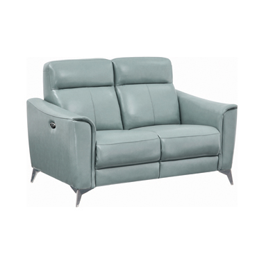 Alberta Upholstered Power Loveseat Dark Seafoam