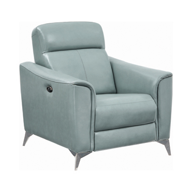 Alberta Upholstered Power Recliner Dark Seafoam