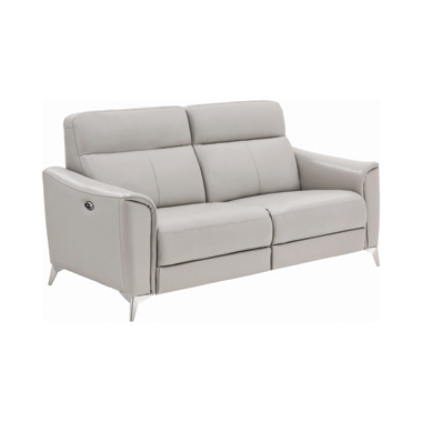 Alberta Upholstered Power Sofa Light Grey