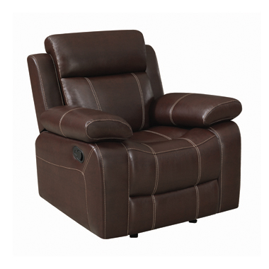 Myleene Pillow Top Arm Glider Recliner Chestnut