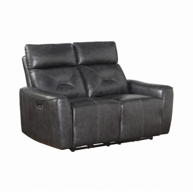 Jupiter Upholstered Power^2 Loveseat Charcoal