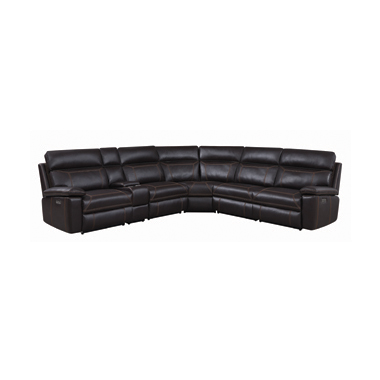 Albany 6-piece Power^2 Sectional Brown