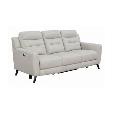 Lantana Upholstered Power Sofa Beige