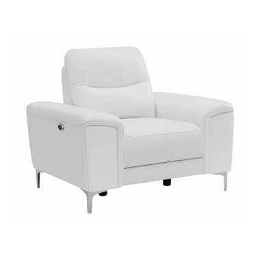 Largo Upholstered Power Recliner White