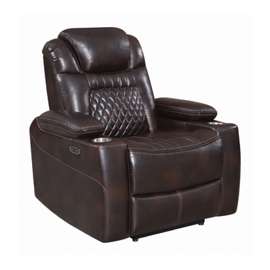 Korbach Upholstered Power^2 Recliner Espresso