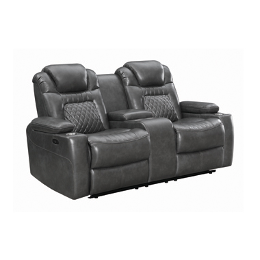 Korbach Upholstered Power^2 Loveseat Charcoal
