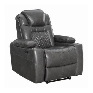 Korbach Upholstered Power^2 Recliner Charcoal