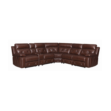 Chester 6-piece Power^2 Sectional Chocolate