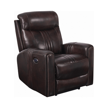 Cushion Back Power^3 Recliner Brown