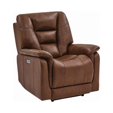 Pillow Top Arms Power^3 Recliner Chestnut