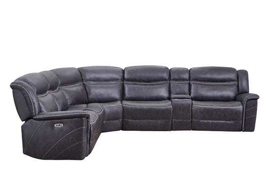 Bluefield 6-piece Modular Motion Sectional Charcoal