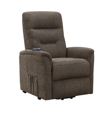 Power Lift Recliner with Storage Pocket Brown