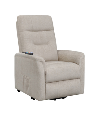 Power Lift Recliner with Storage Pocket Beige