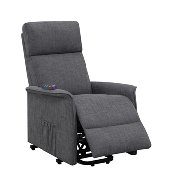 Power Lift Recliner with Wired Remote Charcoal