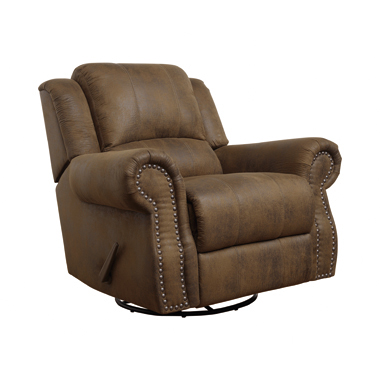 Sir Rawlinson Swivel Rocker Recliner Buckskin Brown