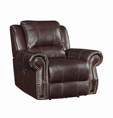 Sir Rawlinson Swivel Rocker Recliner Dark Brown