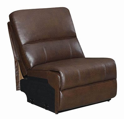 Channing Power Motion Sectional Brown
