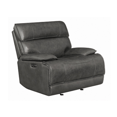 Stanford Bluetooth Power Glider Recliner Charcoal