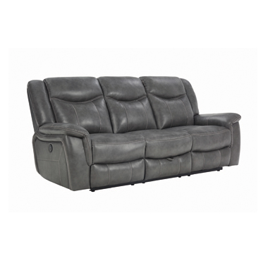 Conrad Upholstered Motion Sofa Cool Grey