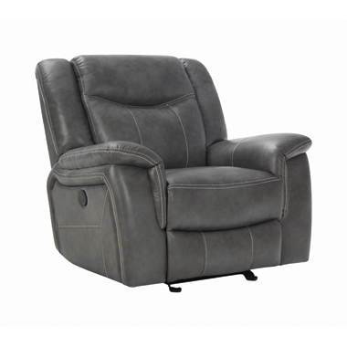 Conrad Upholstered Power Glider Recliner Grey