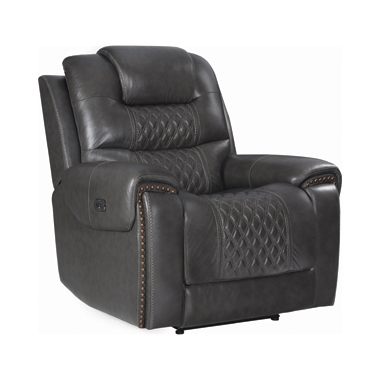 North Cushion Back Power^2 Glider Recliner Grey