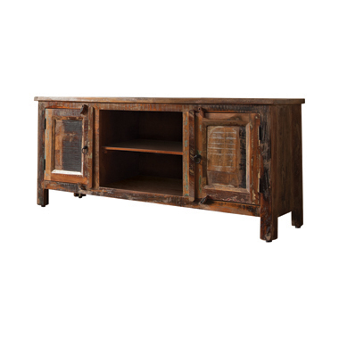 2-door TV Console Reclaimed Wood