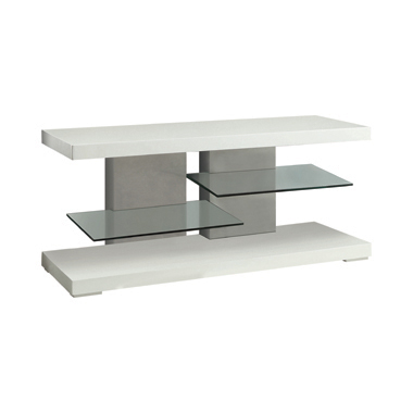 2-shelf TV Console Glossy White