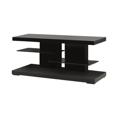 2-shelf TV Console Glossy Black
