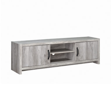 2-door TV Console Grey Driftwood