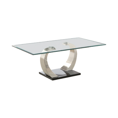 Willemse Glass Top Coffee Table Clear and Satin